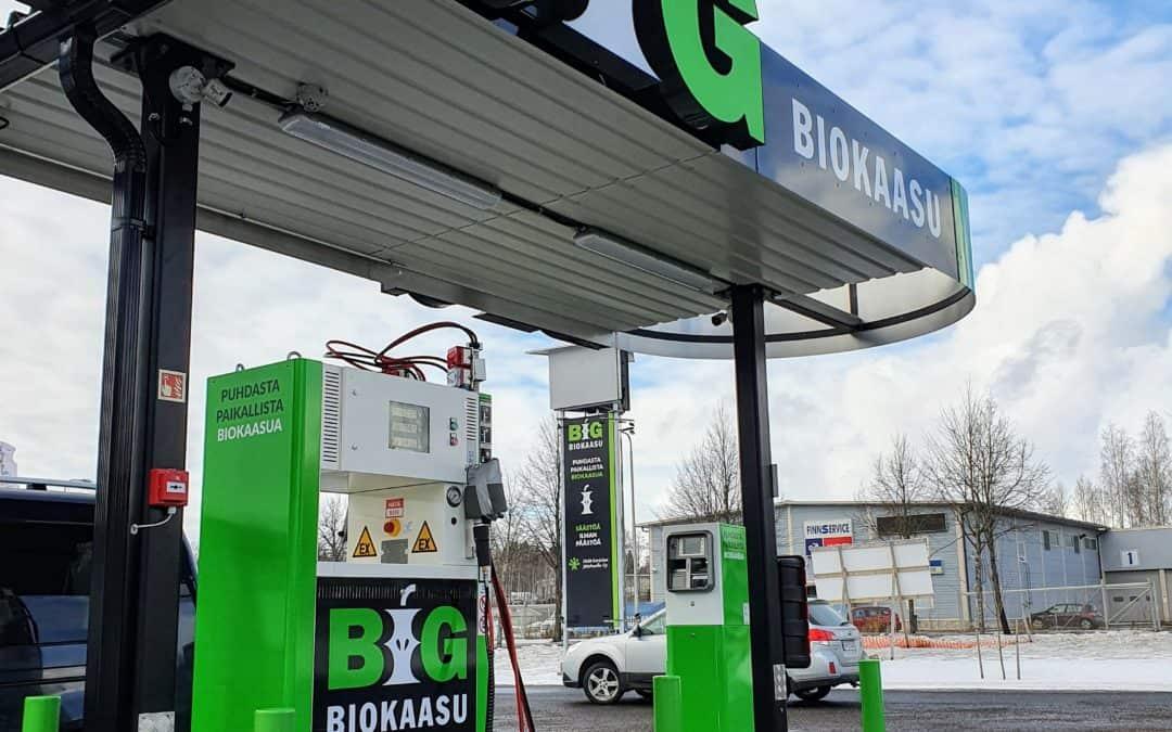 Biokaasun tankkausasemat avattu Imatralle, Lappeenrantaan, Luumäelle ja Parikkalaan