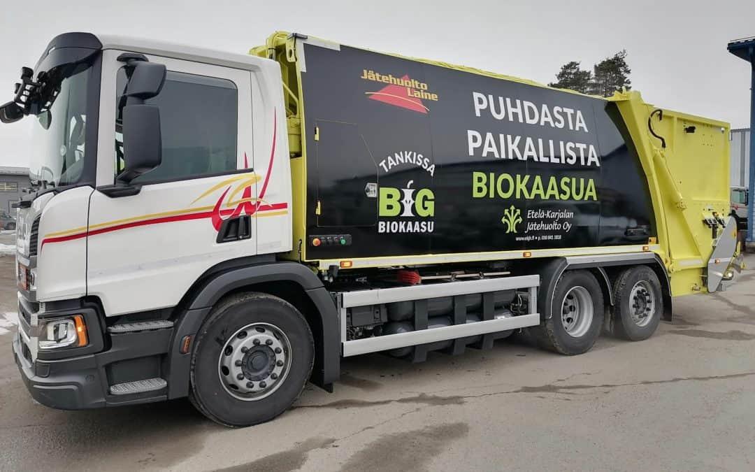 Jäteauto keltainen BIG-biokasu